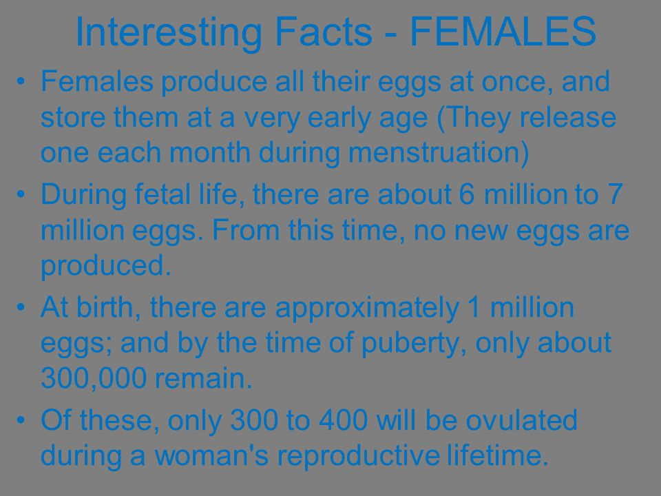 Interesting Facts - FEMALES