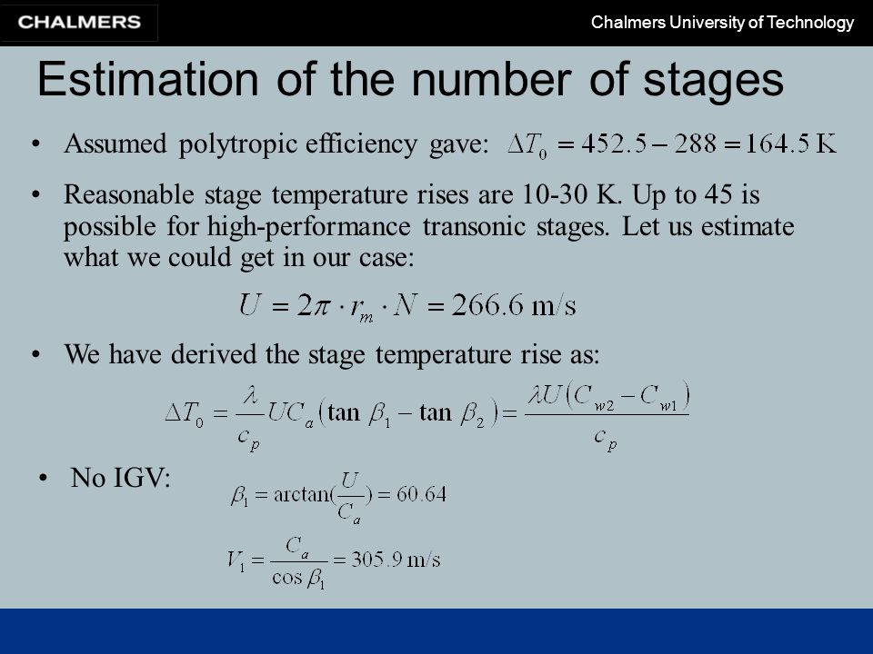 Estimation of the number of stages