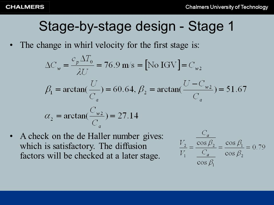 Stage-by-stage design - Stage 1