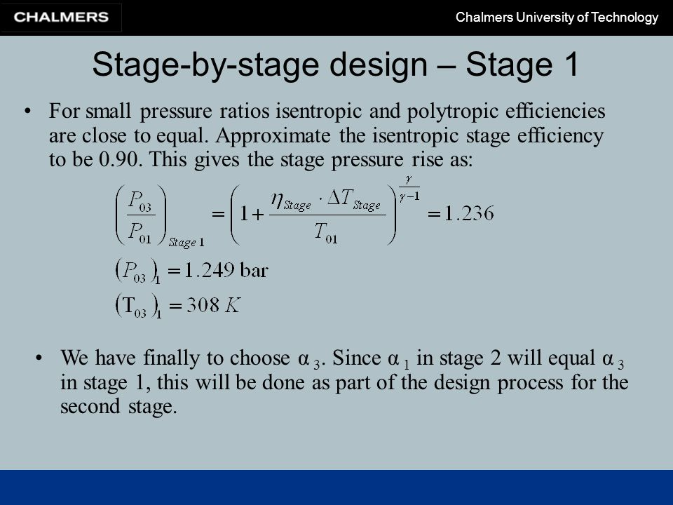 Stage-by-stage design – Stage 1