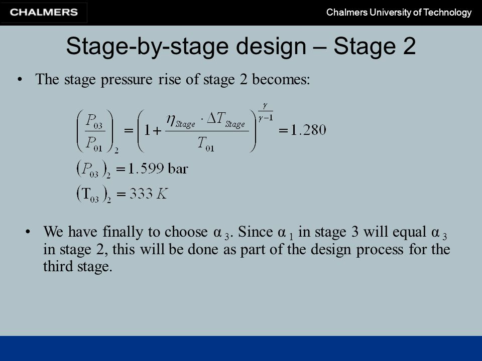 Stage-by-stage design – Stage 2
