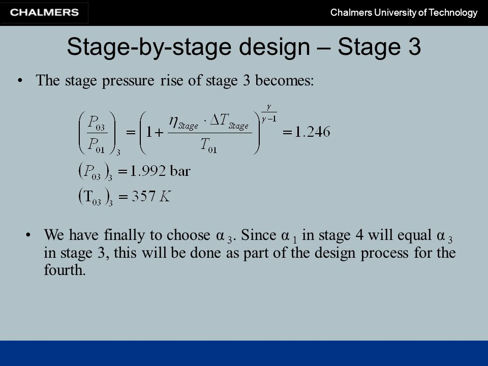 Stage-by-stage design – Stage 3