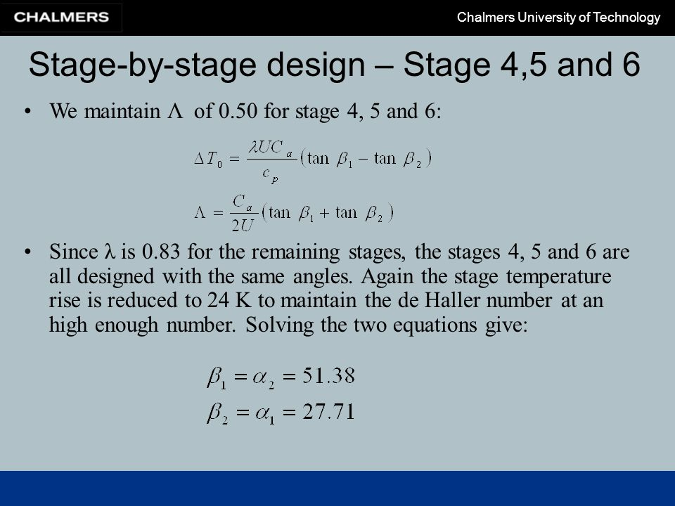 Stage-by-stage design – Stage 4,5 and 6