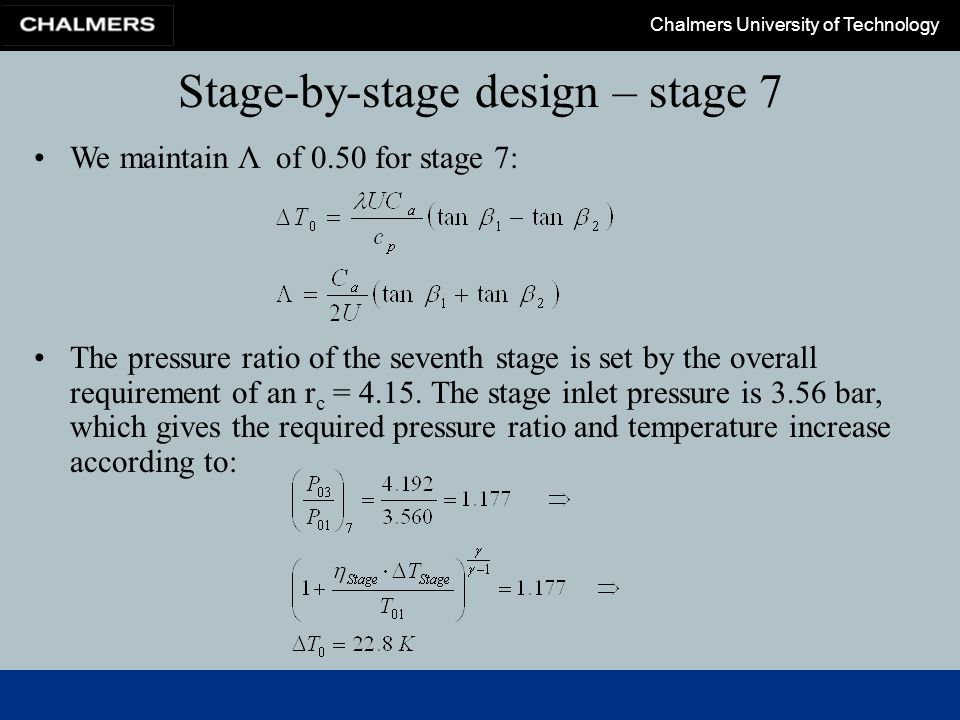 Stage-by-stage design – stage 7