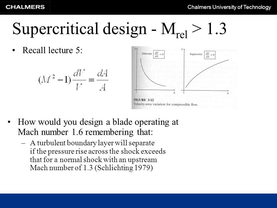 Supercritical design - Mrel > 1.3
