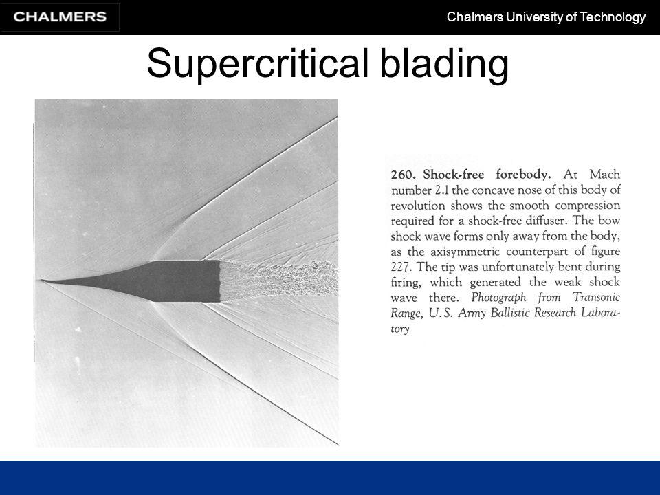 Supercritical blading