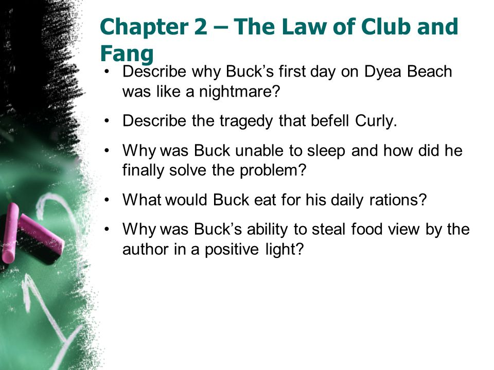 Chapter 2 – The Law of Club and Fang