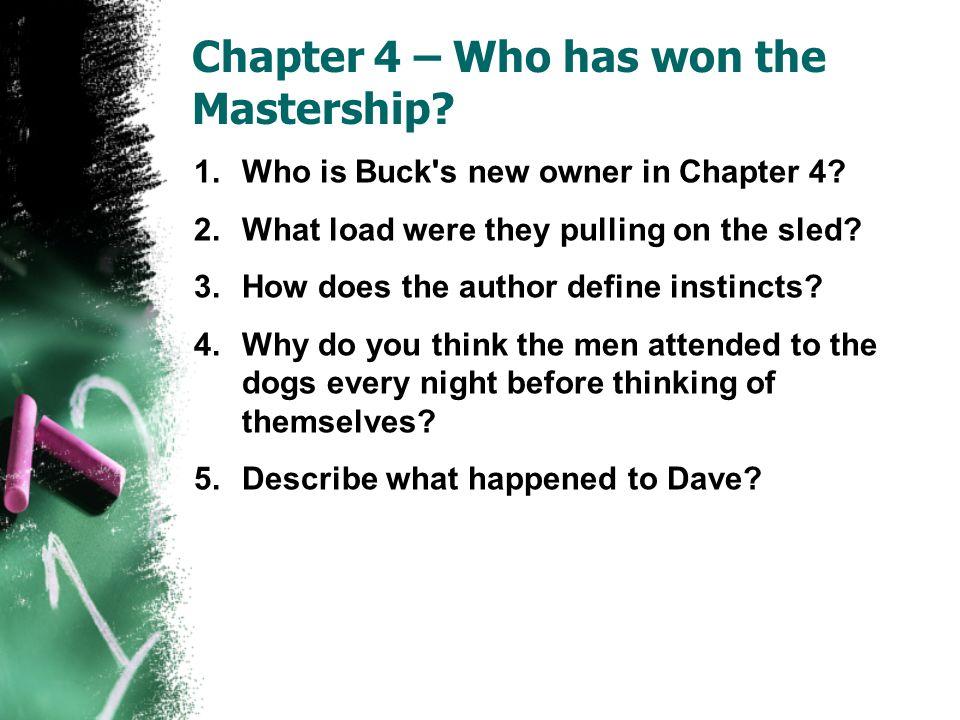 Chapter 4 – Who has won the Mastership