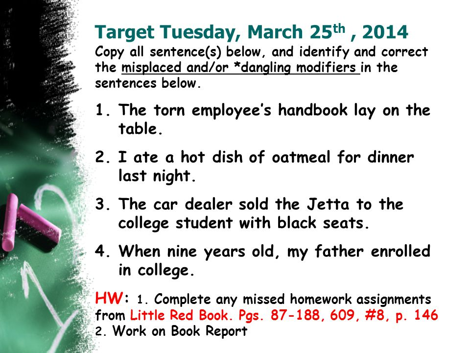 Target Tuesday, March 25th , 2014