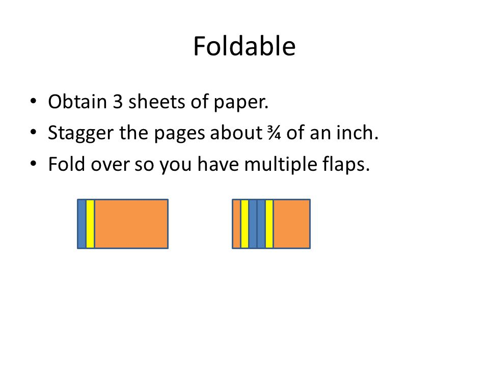 Foldable Obtain 3 sheets of paper.