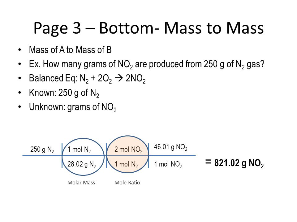 Page 3 – Bottom- Mass to Mass