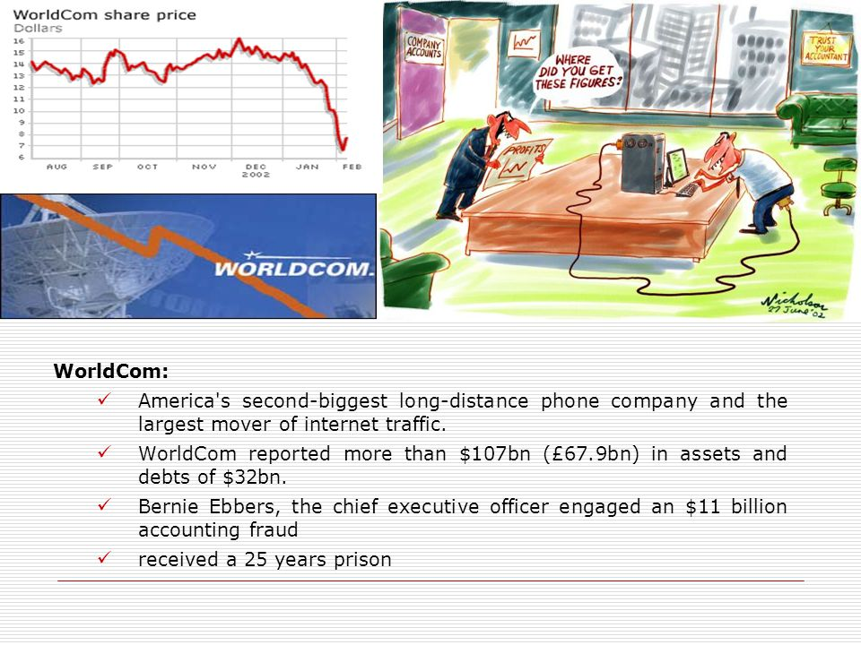 WorldCom: America s second-biggest long-distance phone company and the largest mover of internet traffic.