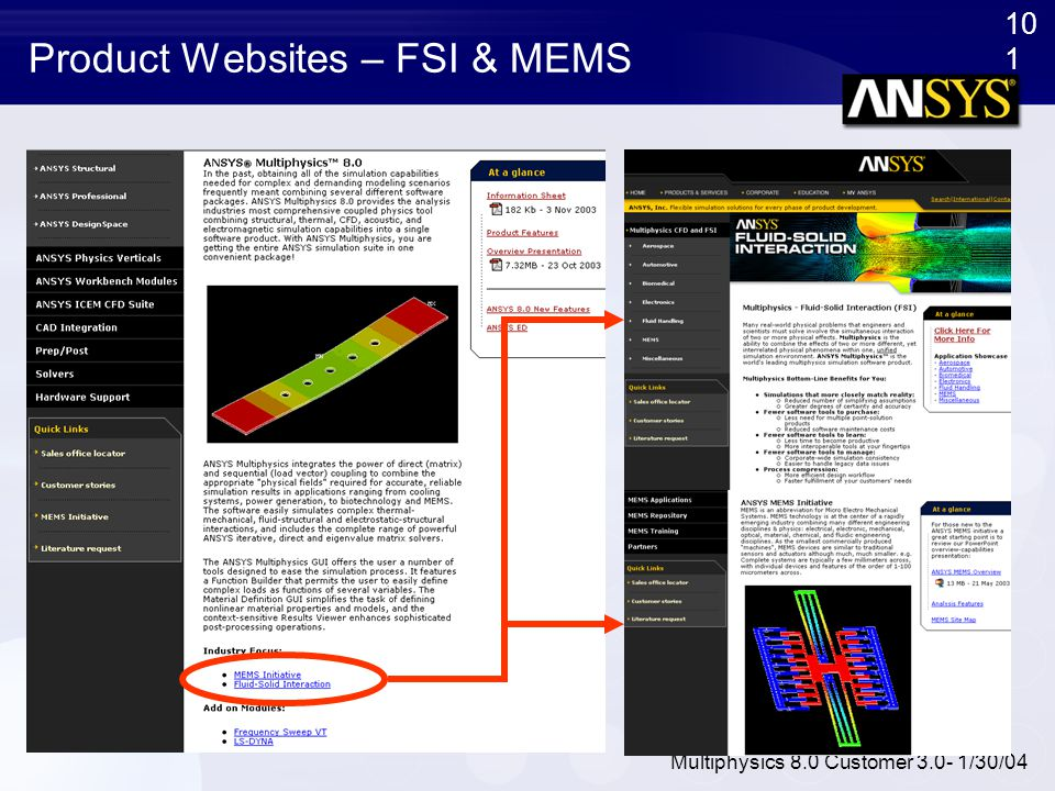 Product Websites – FSI & MEMS