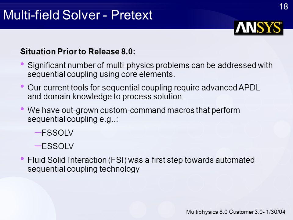 Multi-field Solver - Pretext