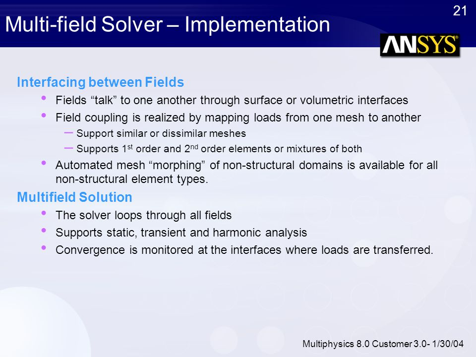 Multi-field Solver – Implementation