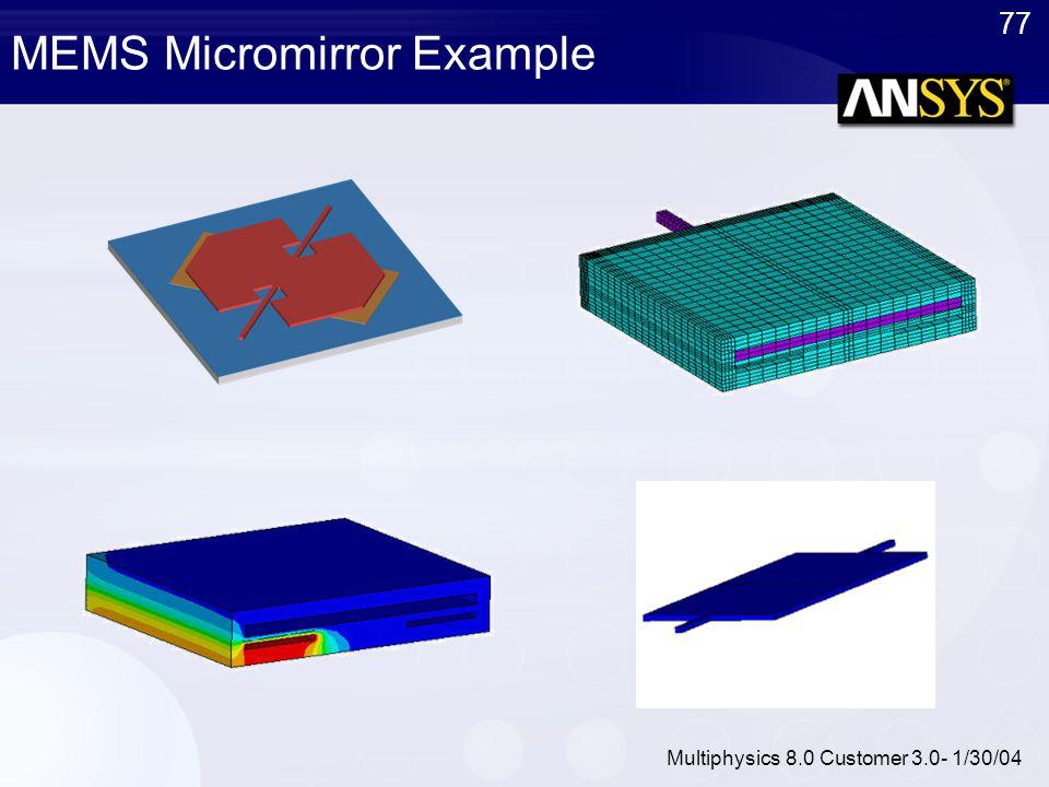 MEMS Micromirror Example