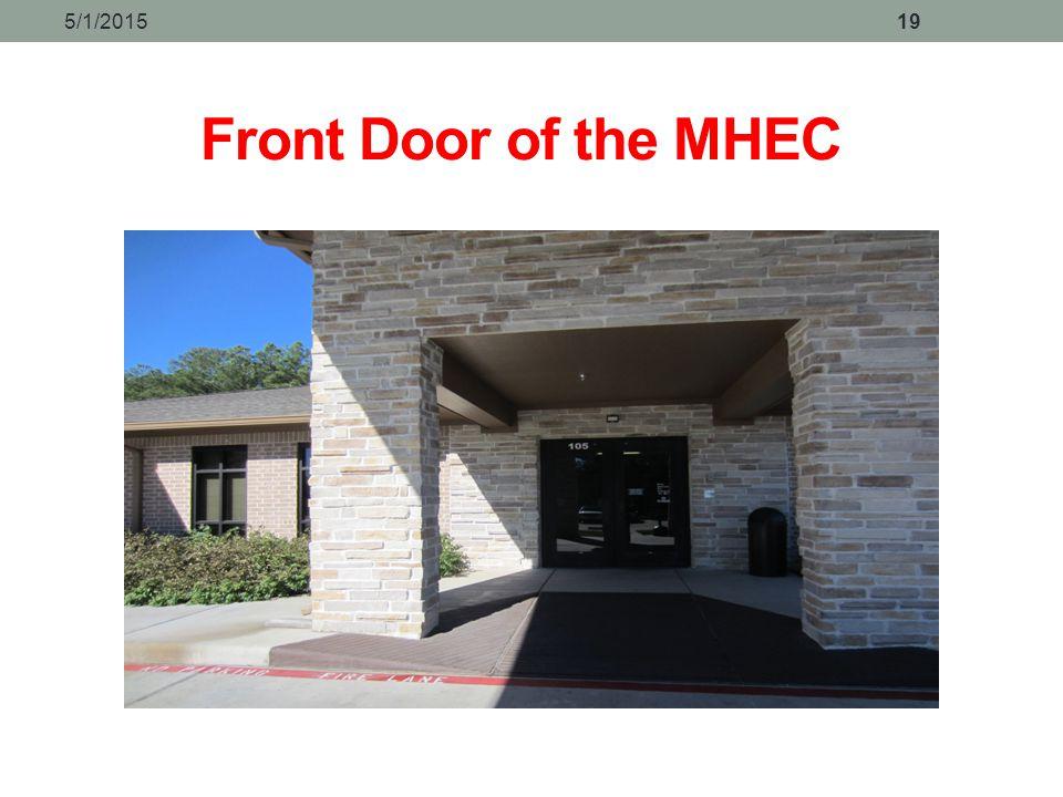 4/14/2017 Front Door of the MHEC