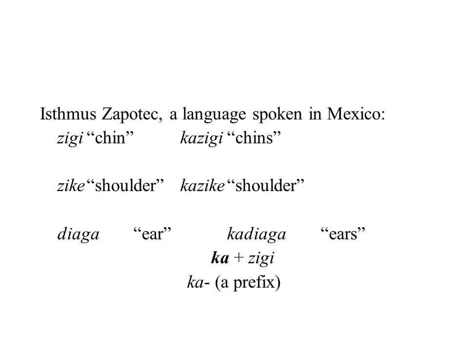 Isthmus Zapotec, a language spoken in Mexico: