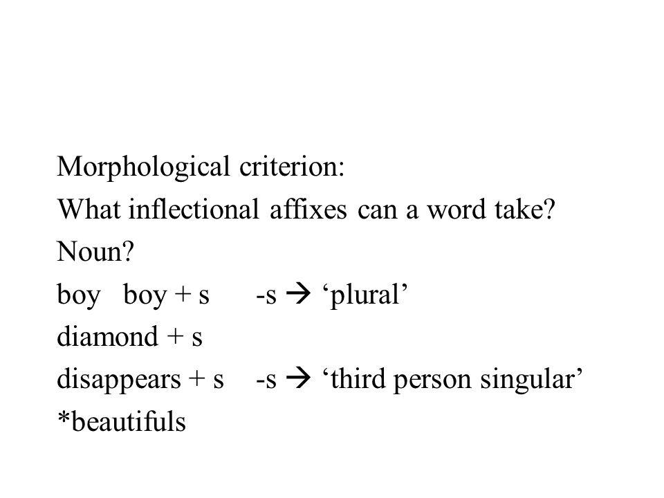 Morphological criterion: