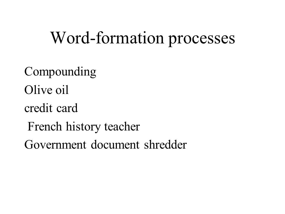 Word-formation processes