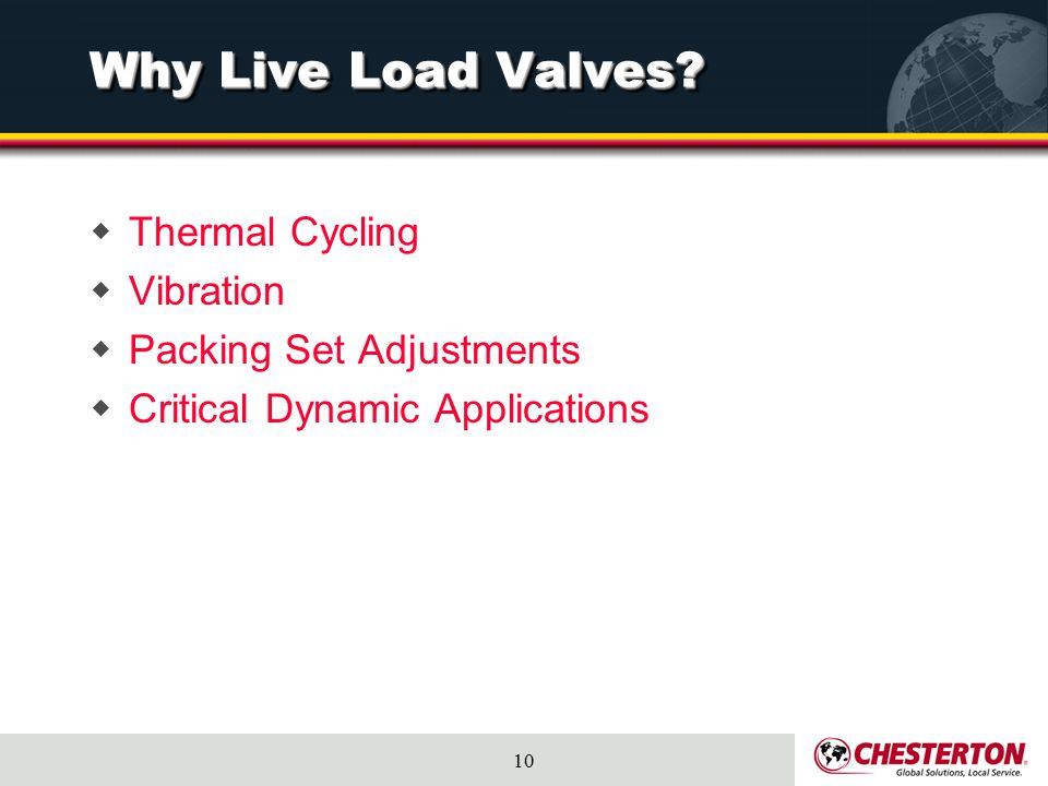 Why Live Load Valves Thermal Cycling Vibration