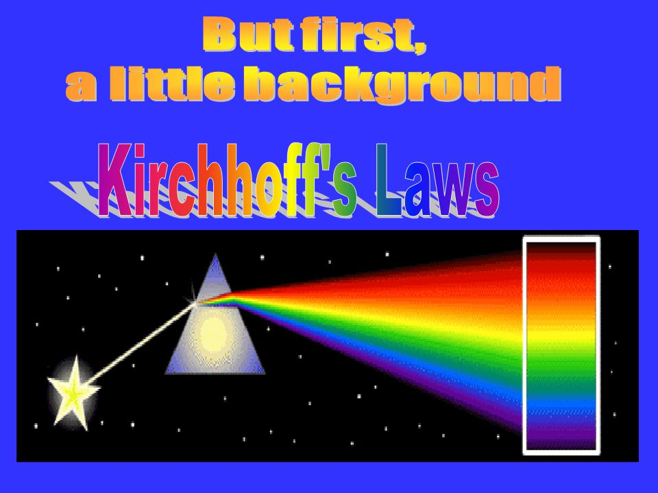But first, a little background Kirchhoff s Laws 4