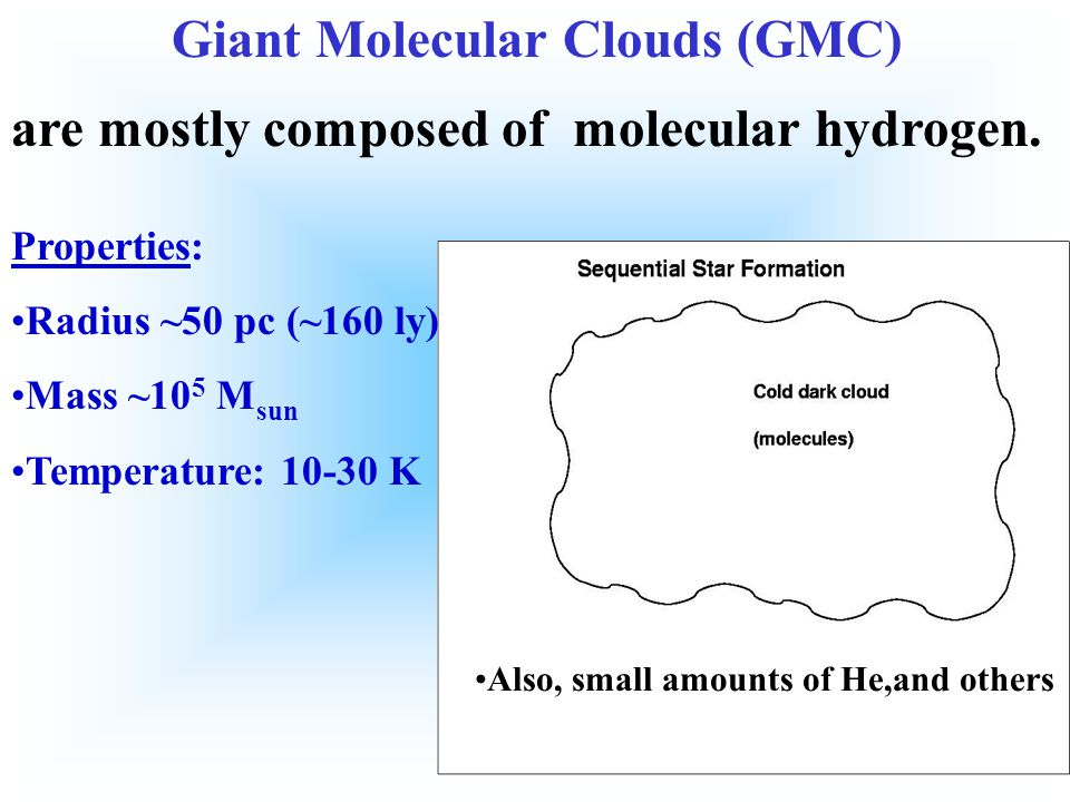 Giant Molecular Clouds (GMC)