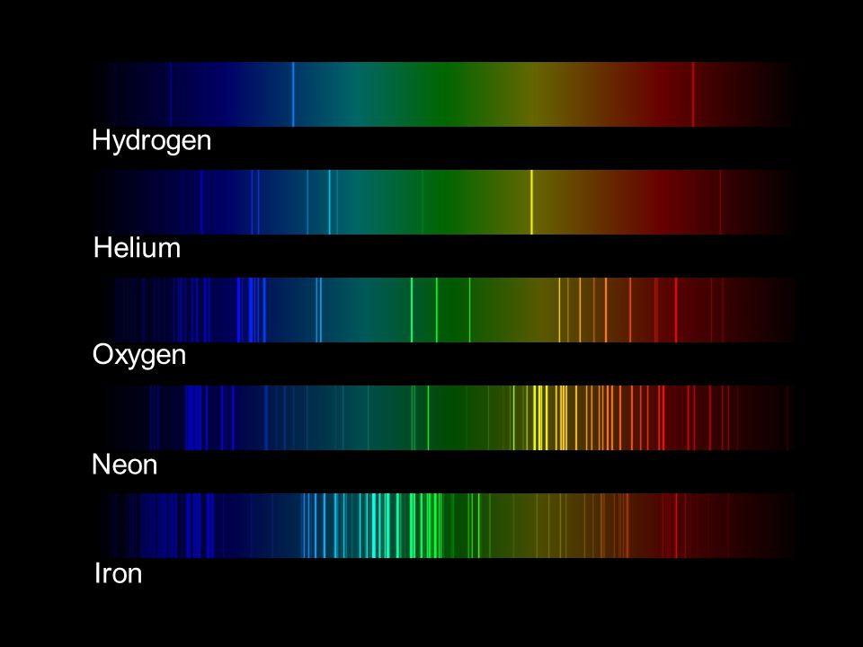 Hydrogen Helium Oxygen Neon Iron