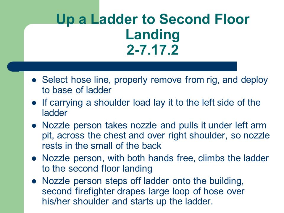 Up a Ladder to Second Floor Landing 2-7.17.2