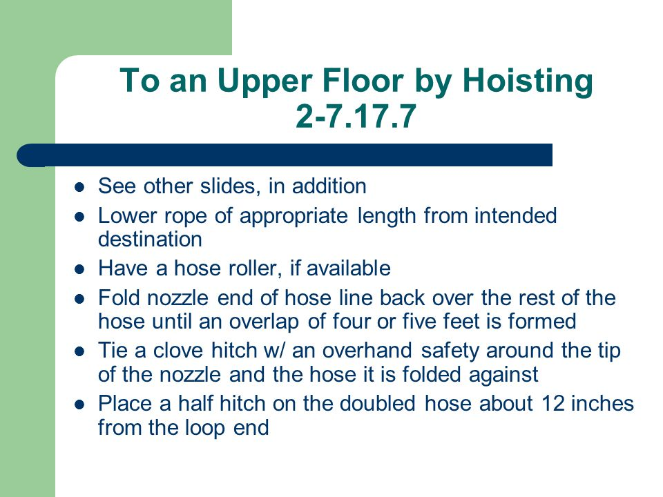 To an Upper Floor by Hoisting 2-7.17.7