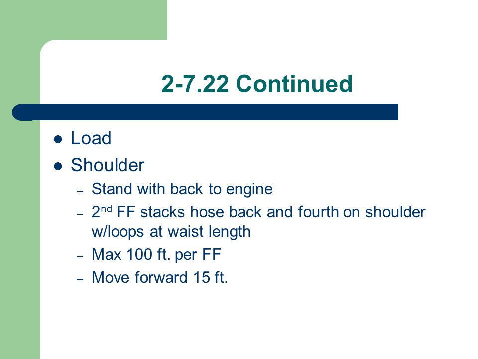 2-7.22 Continued Load Shoulder Stand with back to engine