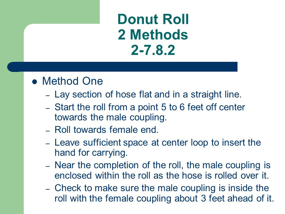 Donut Roll 2 Methods 2-7.8.2 Method One