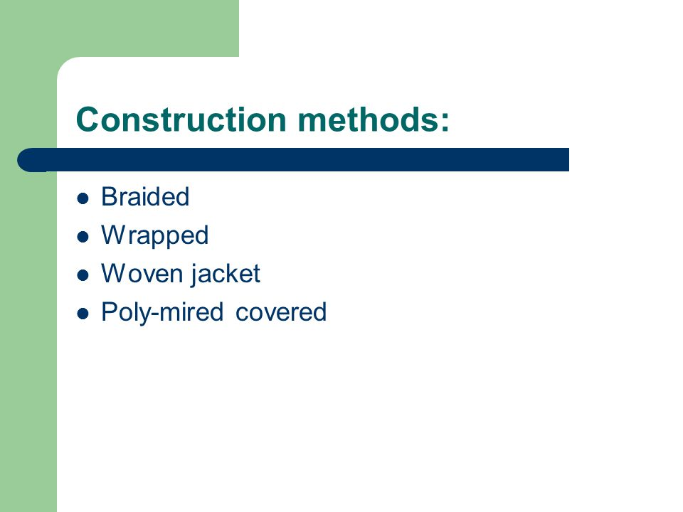 Construction methods: