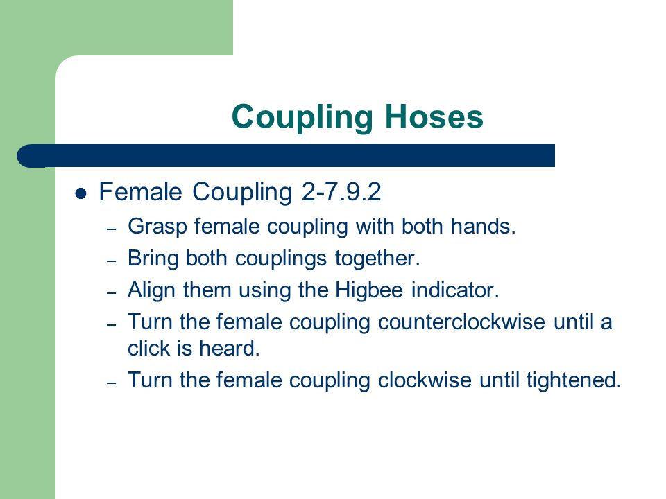 Coupling Hoses Female Coupling 2-7.9.2