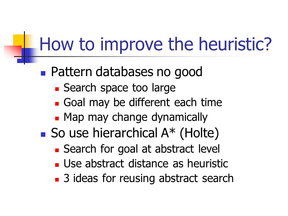 How to improve the heuristic
