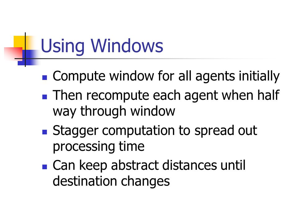 Using Windows Compute window for all agents initially
