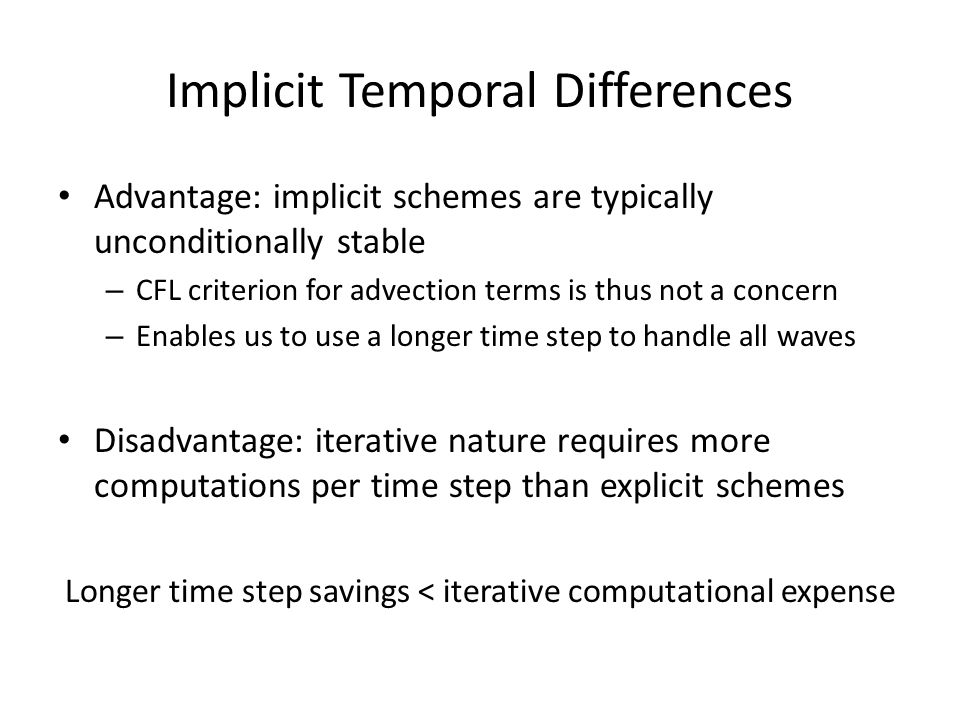 Implicit Temporal Differences