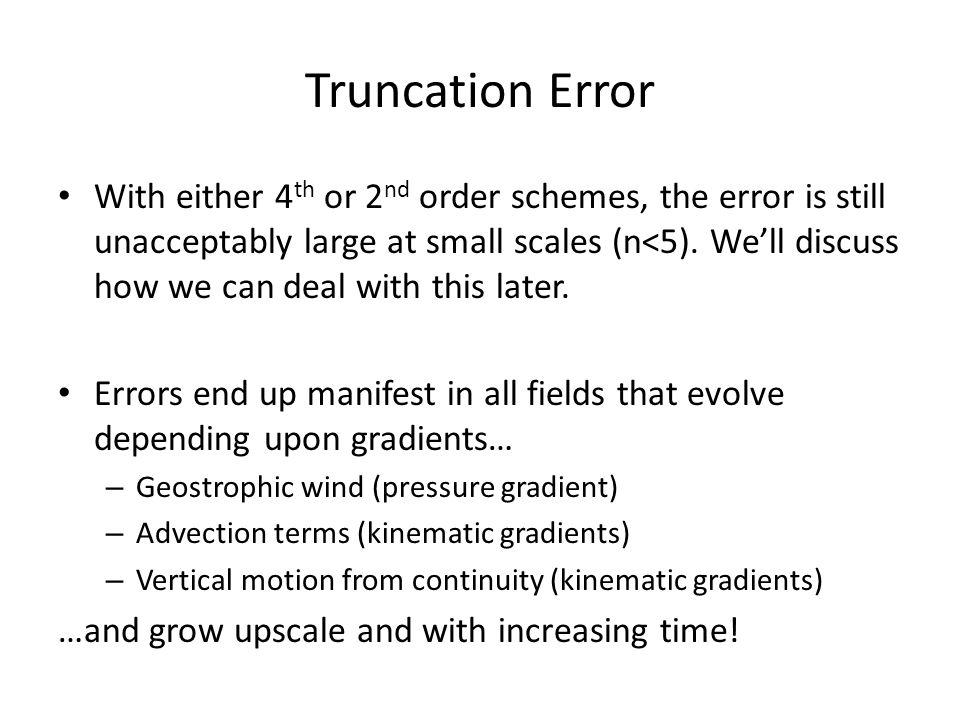 Truncation Error
