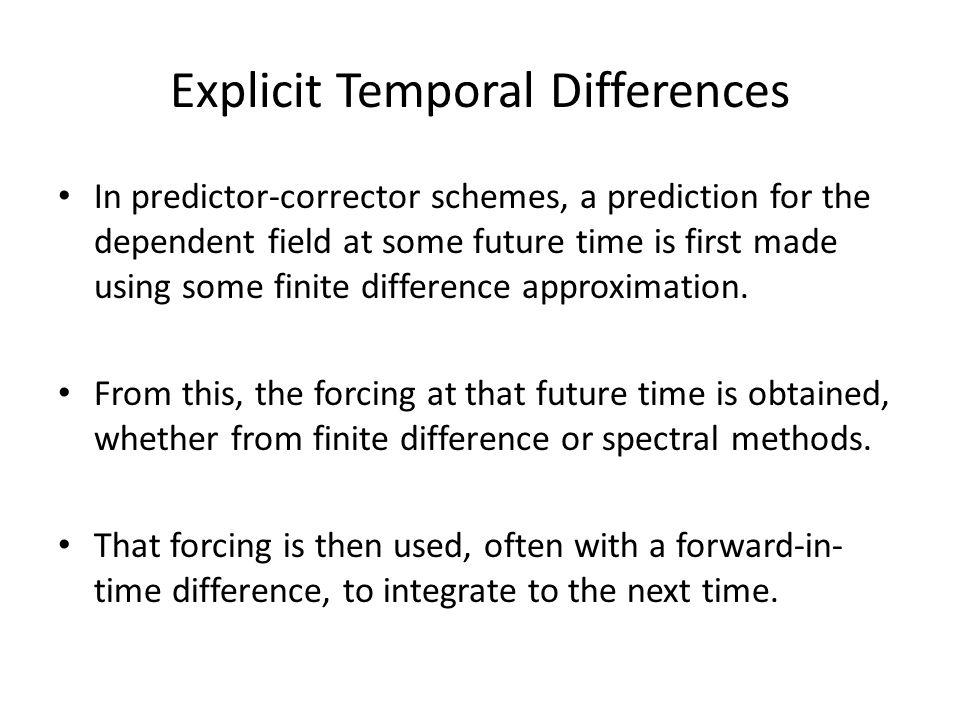 Explicit Temporal Differences