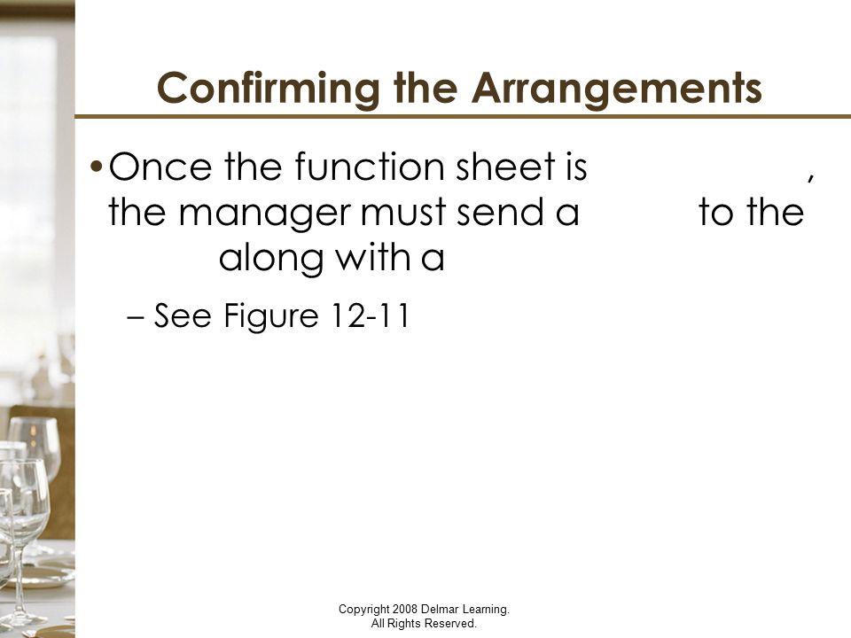 Confirming the Arrangements