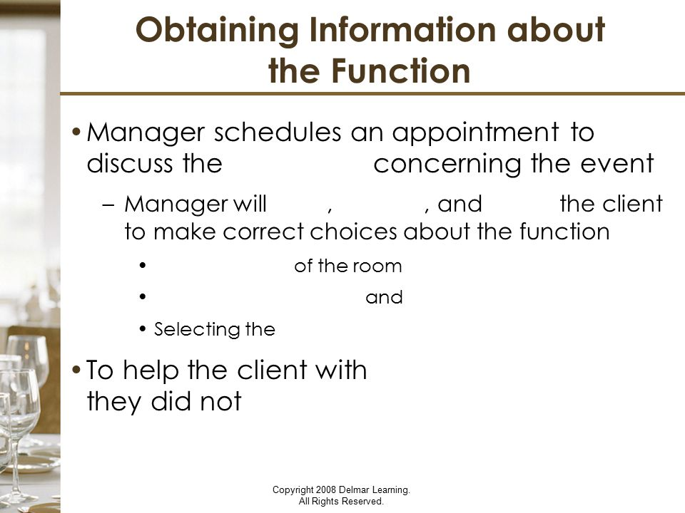 Obtaining Information about the Function