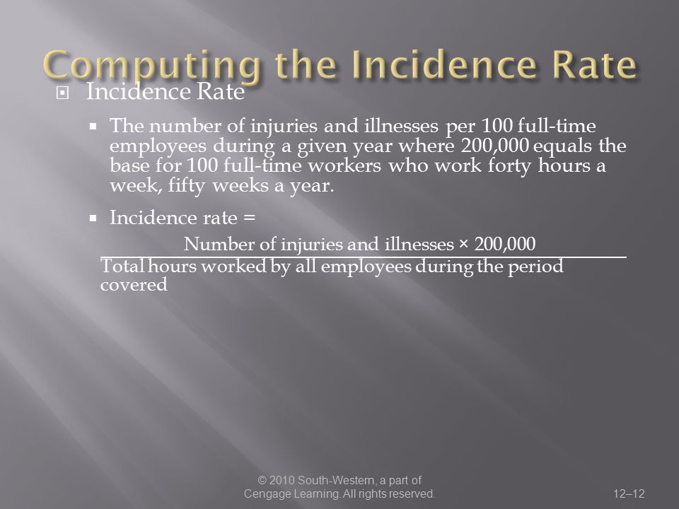 Computing the Incidence Rate