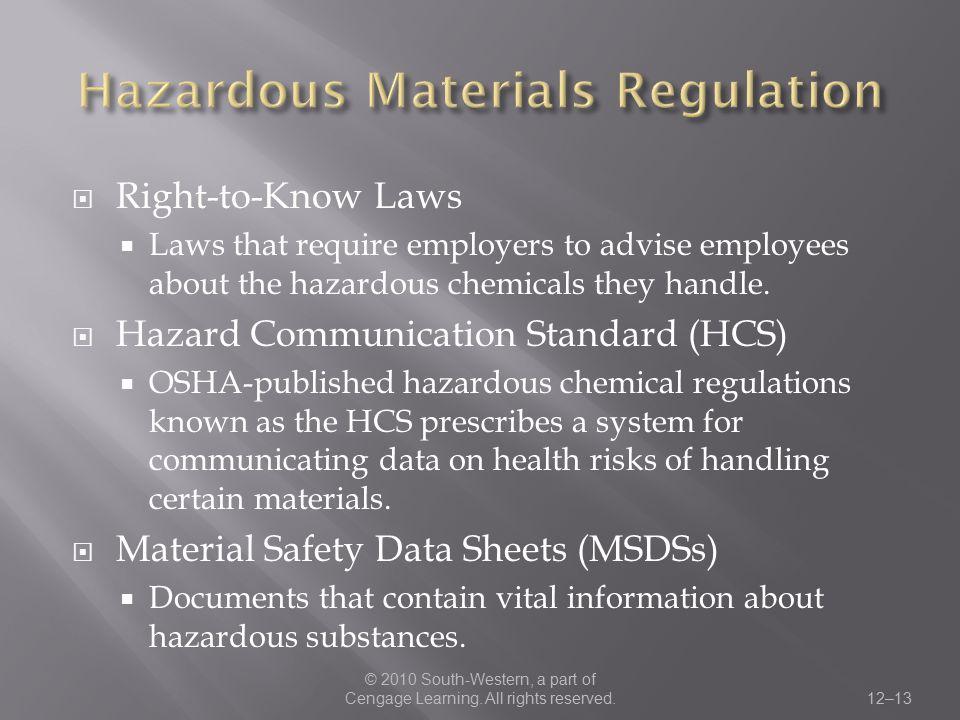 Hazardous Materials Regulation