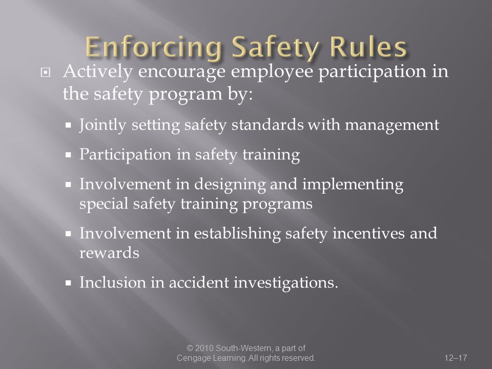 Enforcing Safety Rules