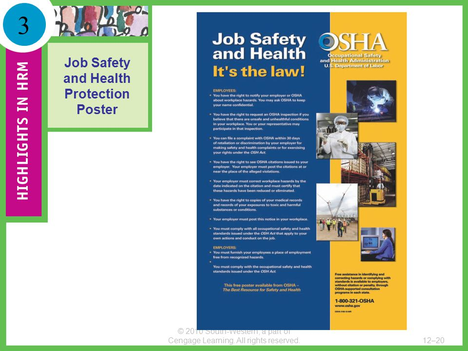 Job Safety and Health Protection Poster
