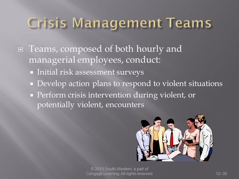 Crisis Management Teams