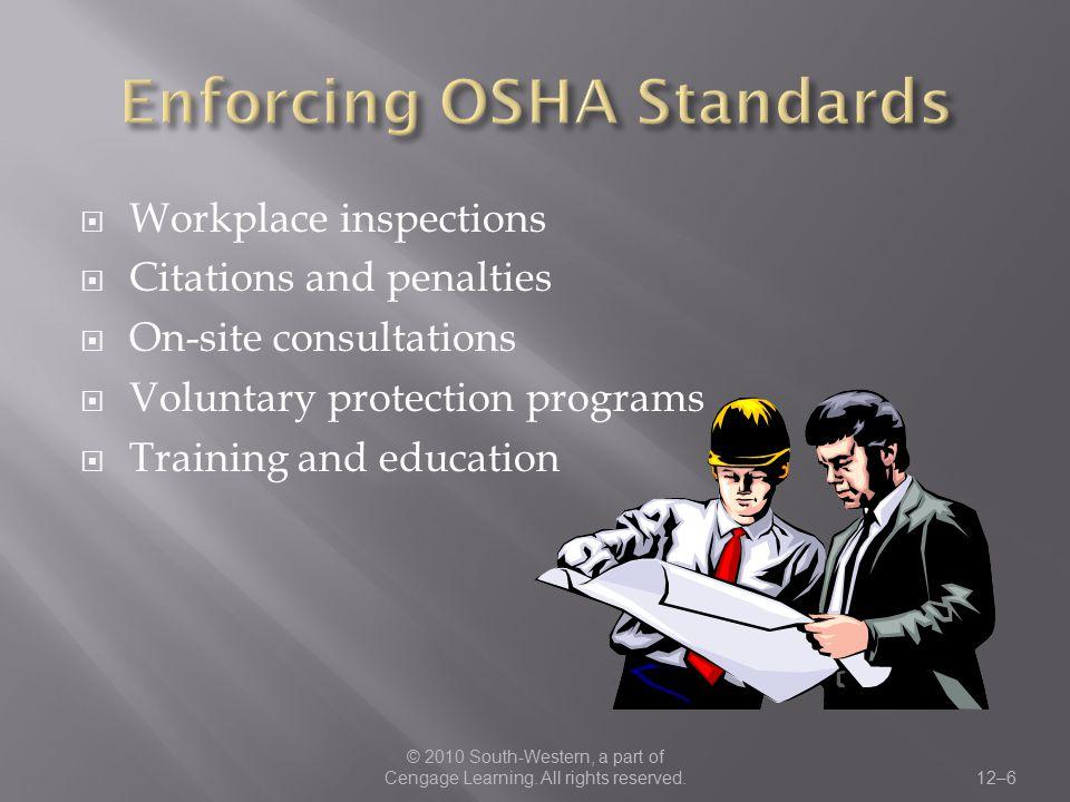 Enforcing OSHA Standards