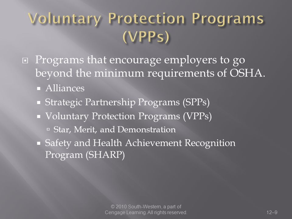 Voluntary Protection Programs (VPPs)