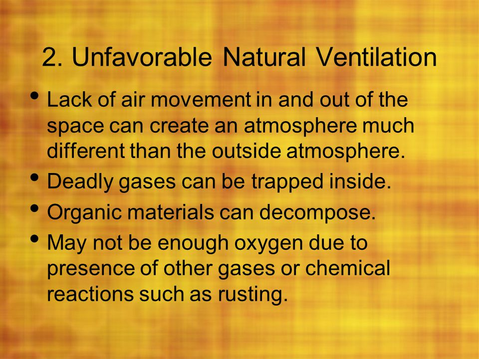 2. Unfavorable Natural Ventilation