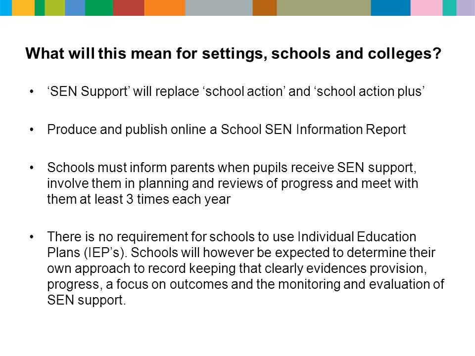 What will this mean for settings, schools and colleges